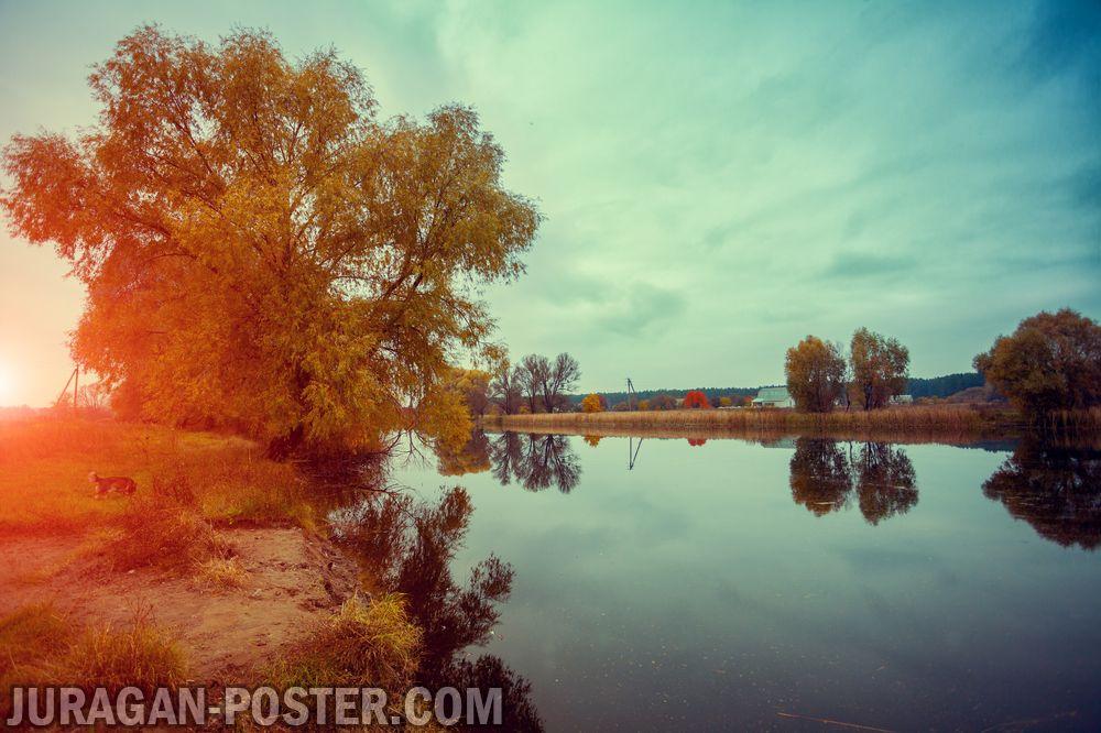 Jual poster gambar pemandangan danau lake 03