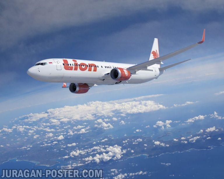 jual poster gambar pesawat Lion Air