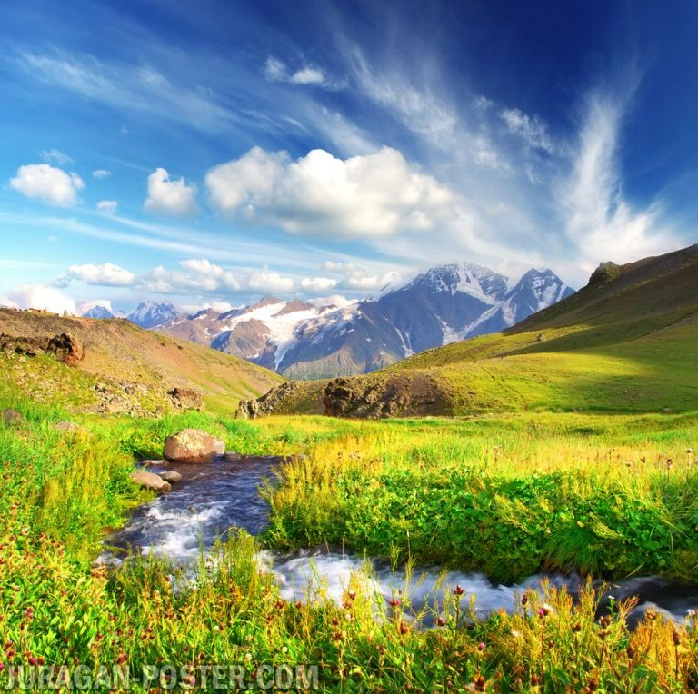 Jual poster gambar pemandangan alam pegunungan mountain 01