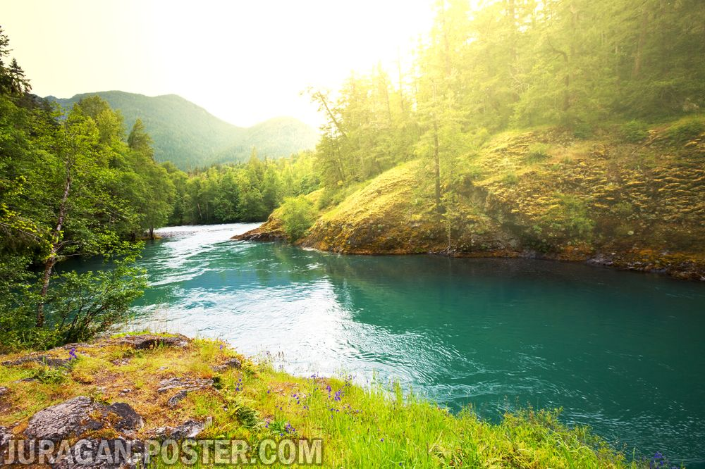 jual poster gambar pemandangan alam sungai river 02