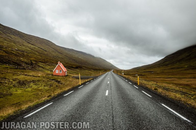 jual poster gambar pemandangan alam jalan road 01