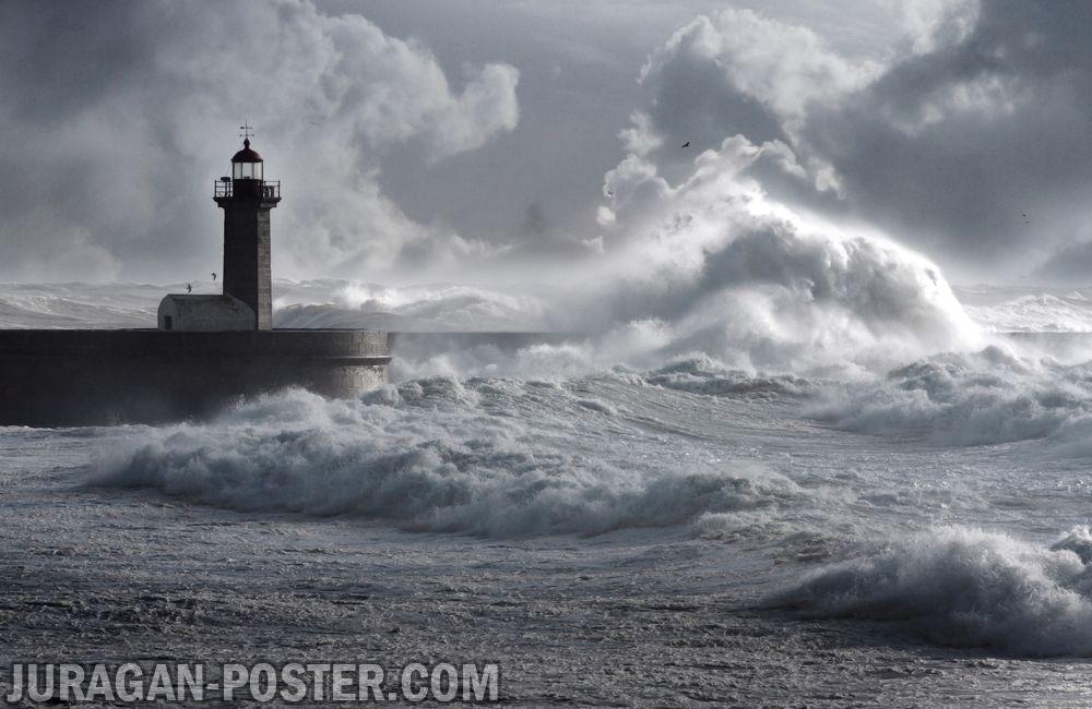 jual poster gambar pemandangan alam badai storm 01