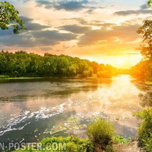 jual poster gambar pemandangan alam matahari terbit sunrise 03