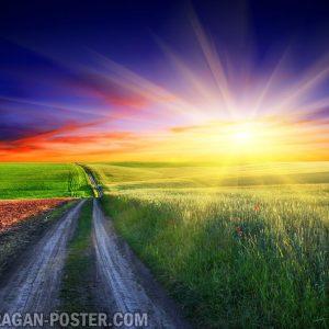 jual poster gambar pemandangan alam matahari terbenam sunset 02