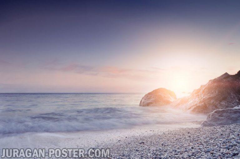 jual poster gambar pemandangan alam matahari terbenam sunset 03