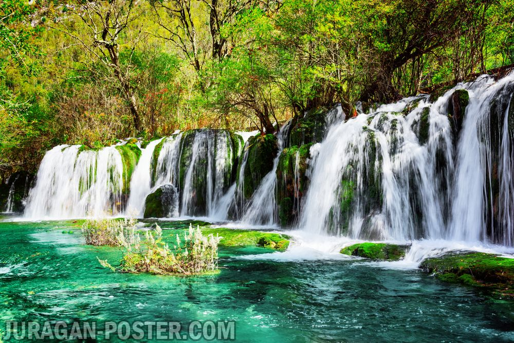 Jual poster gambar pemandangan air terjun waterfall 01