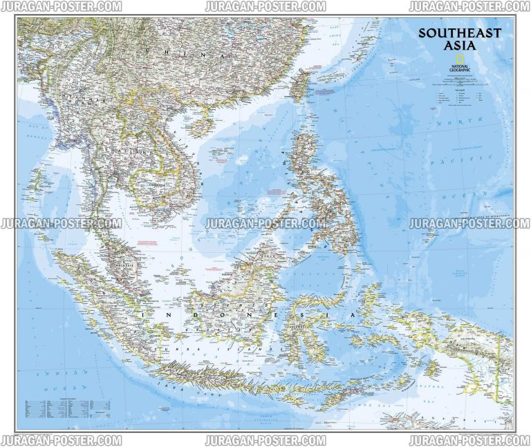 Jual poster peta National Geographic Maps 01