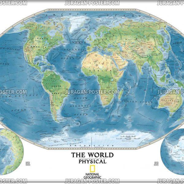 Jual poster peta National Geographic Maps 02