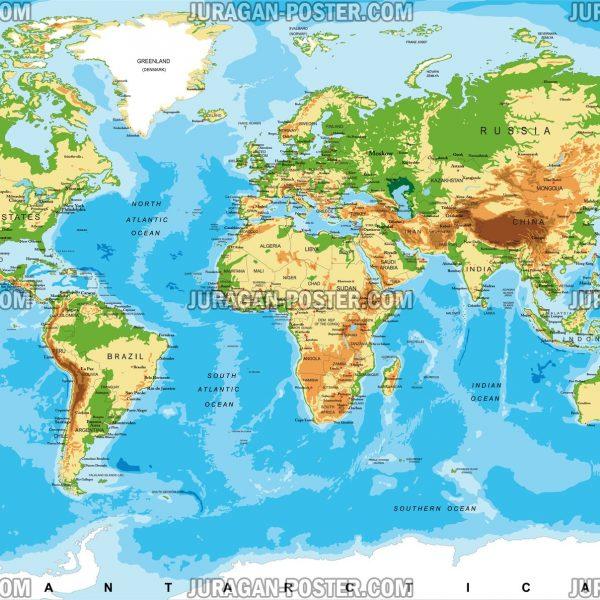 jual peta dunia dan negara