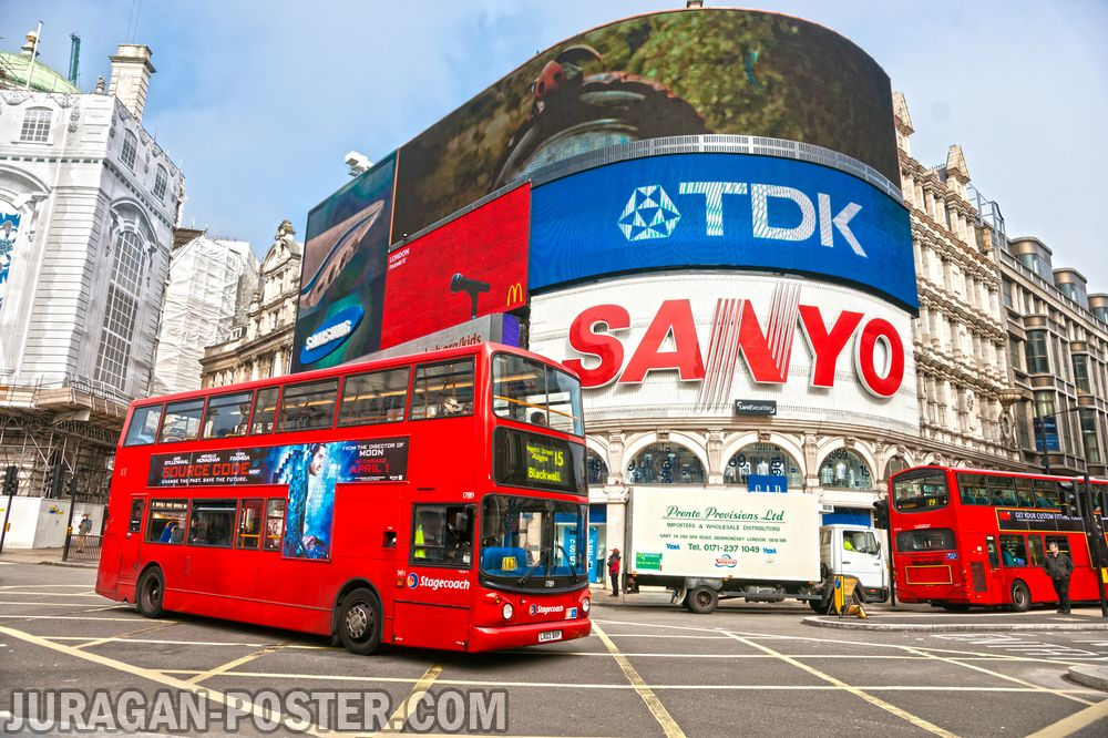 Jual poster pemandangan kota inggris
