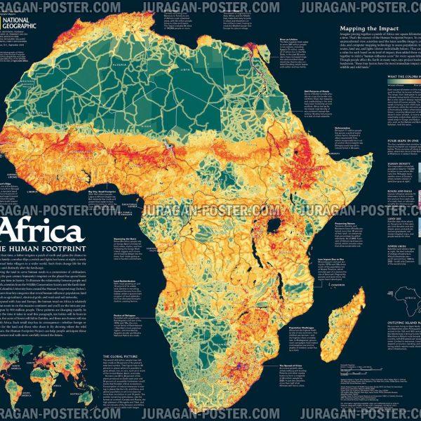 Jual Peta Benua Afrika Lengkap