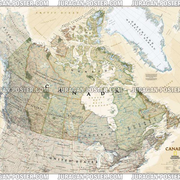 Jual Peta Negara Kanada Lengkap