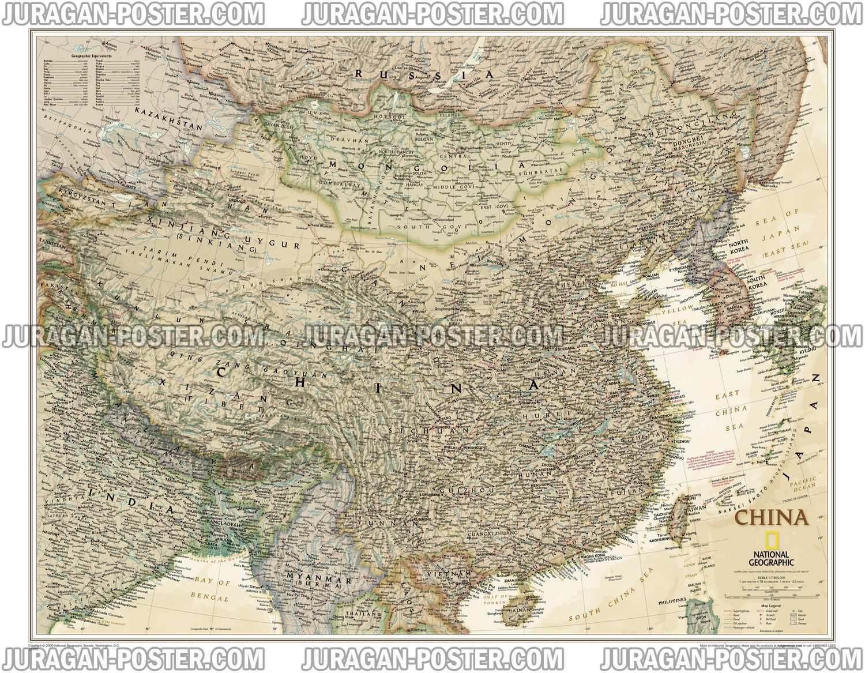 Jual Peta Negara Cina Lengkap