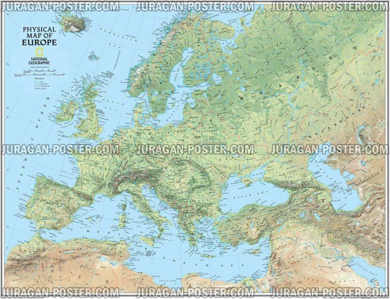 Jual Poster Negara Eropa Lengkap