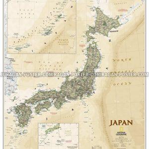 Jual peta jepang dan korea lengkap