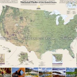 Jual peta Negara Amerika United States