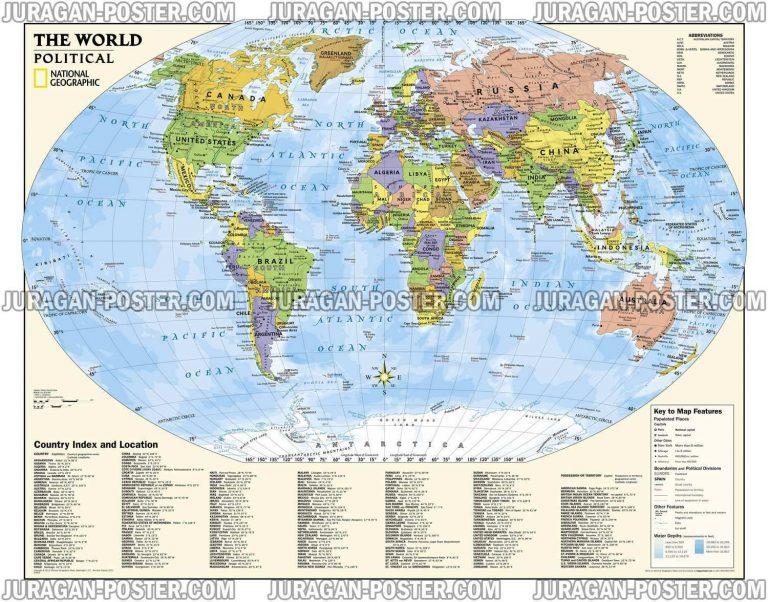 Jual Peta Dunia koleksi National Geographic
