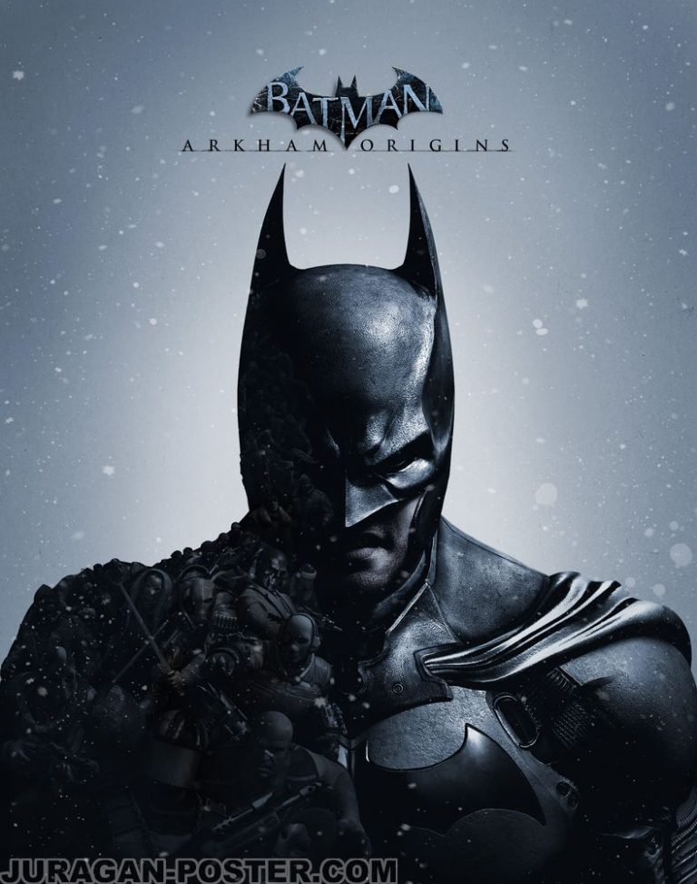 Jual poster superhero batman videogame