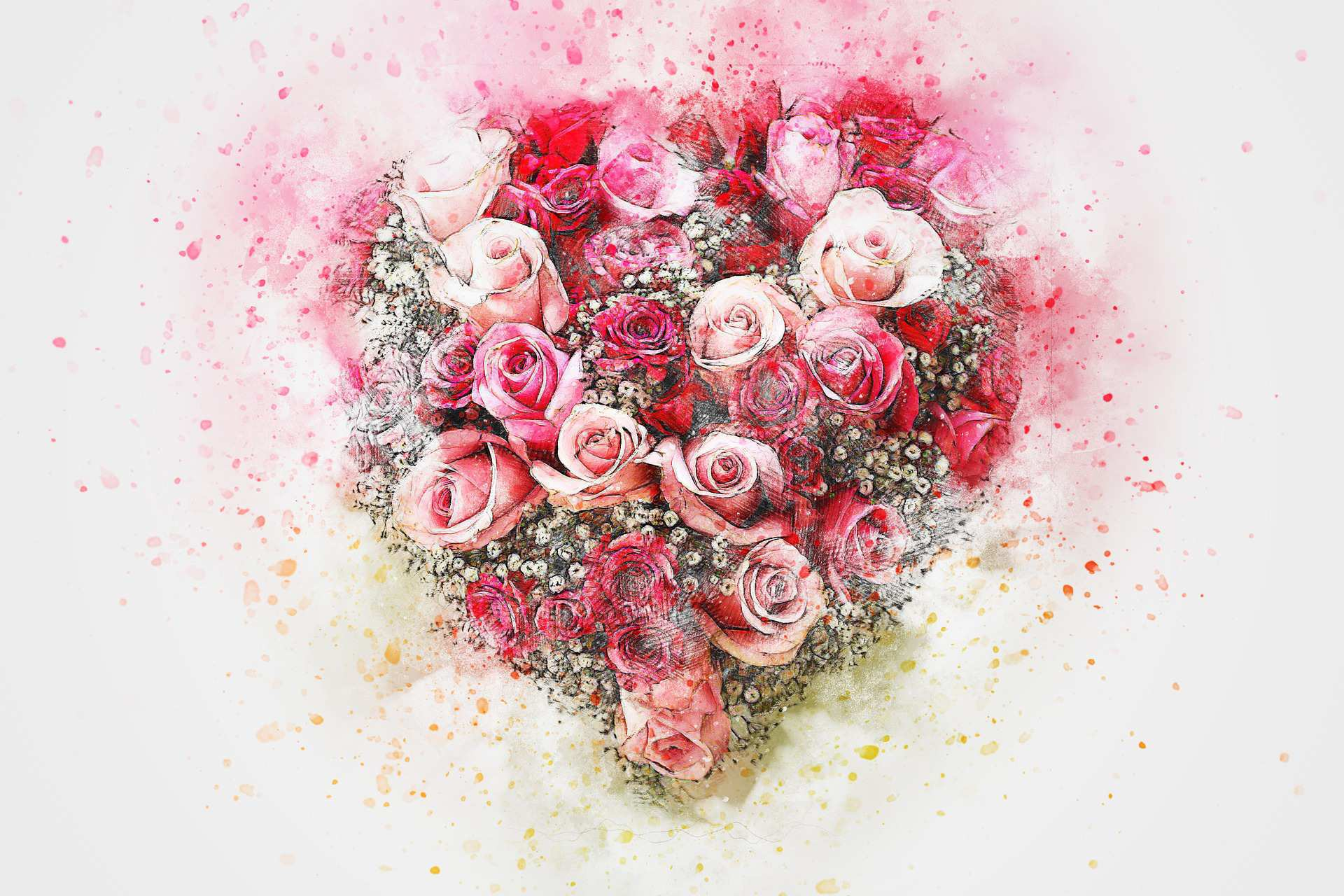 Contoh Lukisan Bunga Mawar Indah Jual Poster Di Juragan Poster