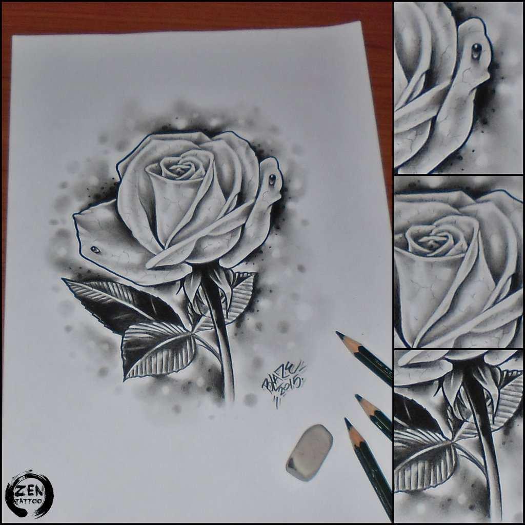 Lukisan Bunga Mawar Dari Pensil Jual Poster Di Juragan Poster