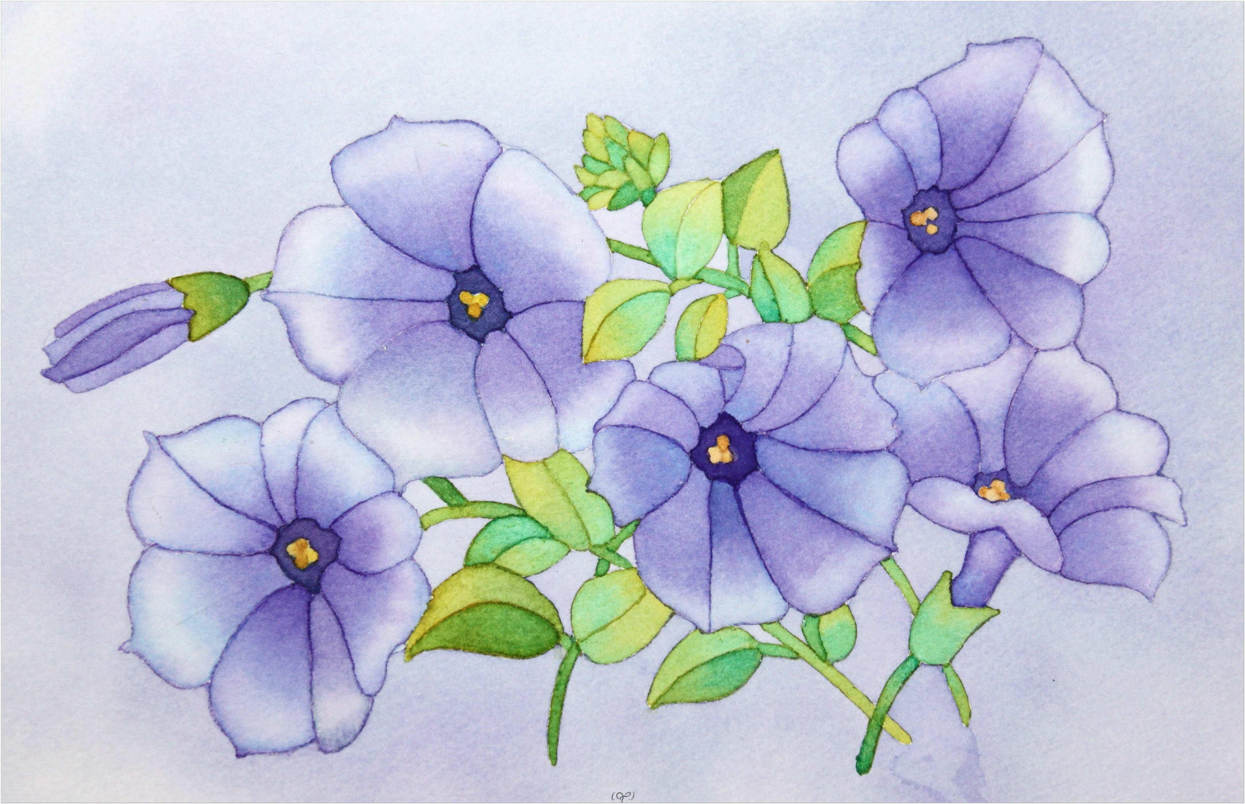 Terbaru 39 Lukisan Bunga Mawar Simple
