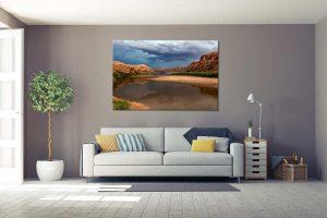 lukisan dinding pemandangan untuk dekorasi ruangan - jual