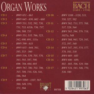 Jual Mp3 Kompilasi Musik Klasik Johann Sebastian Bach Complete Works 160 CD 1 organ works