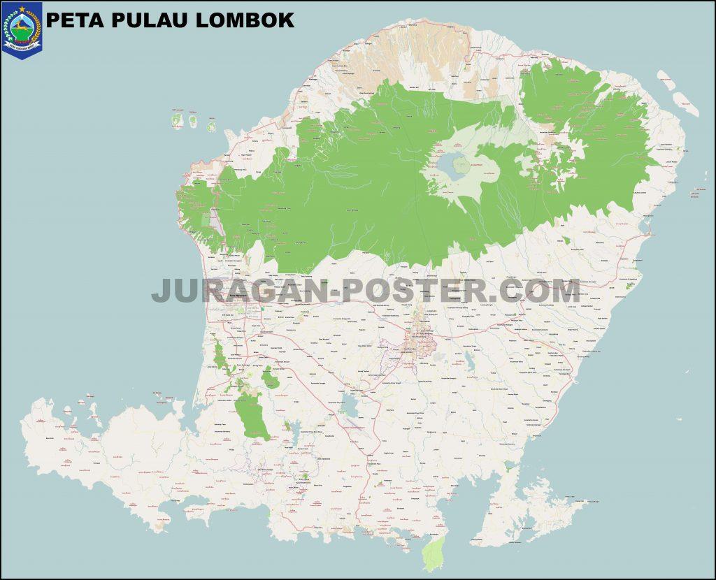 Peta lombok ukuran besar high res
