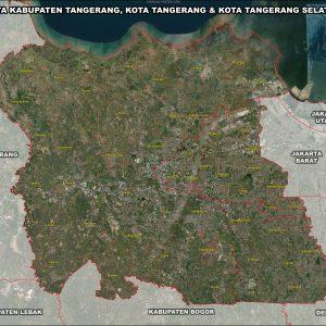 Jual peta Kabupaten Tangerang