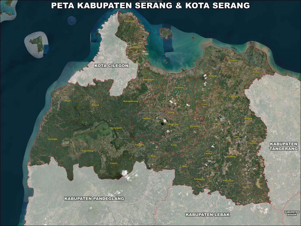 Jual Peta Kabupaten Serang
