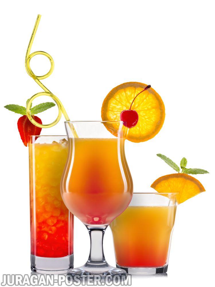 Set of orange cocktails – Jual Poster di Juragan Poster