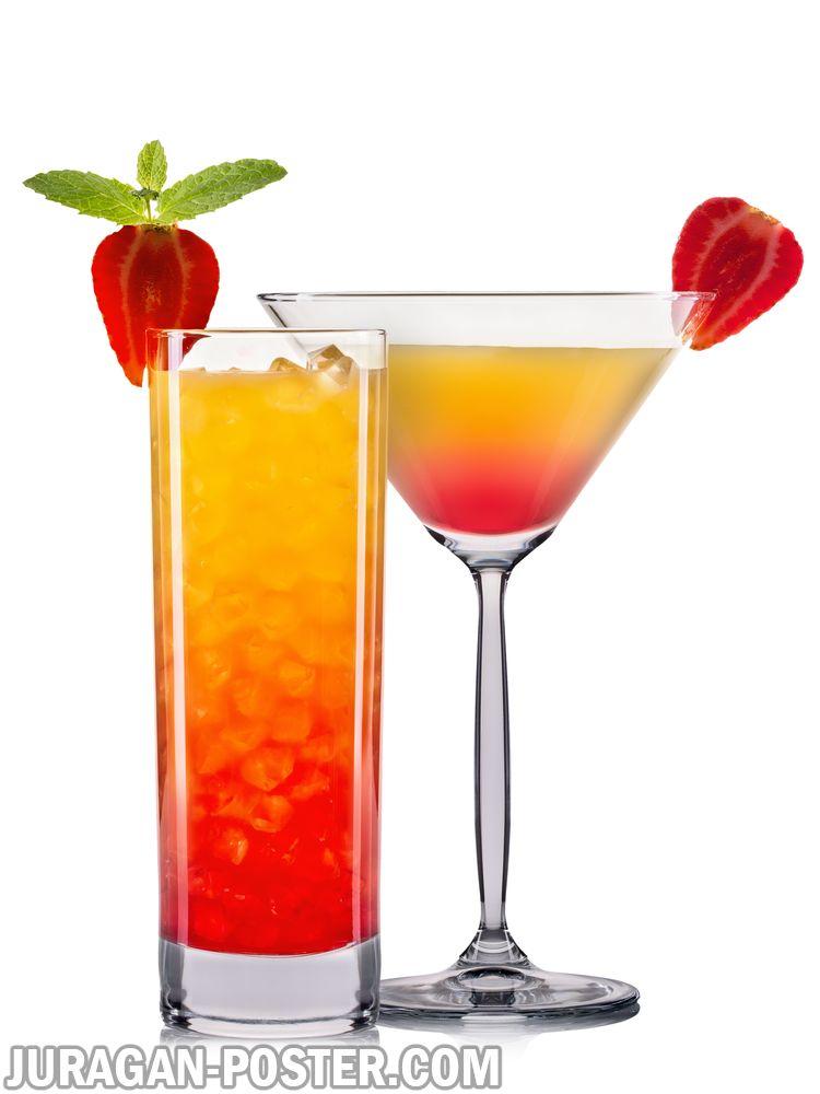 set of orange cocktails