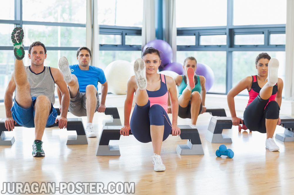 Aerobic Fitness And Sports People Jual Poster Di Juragan