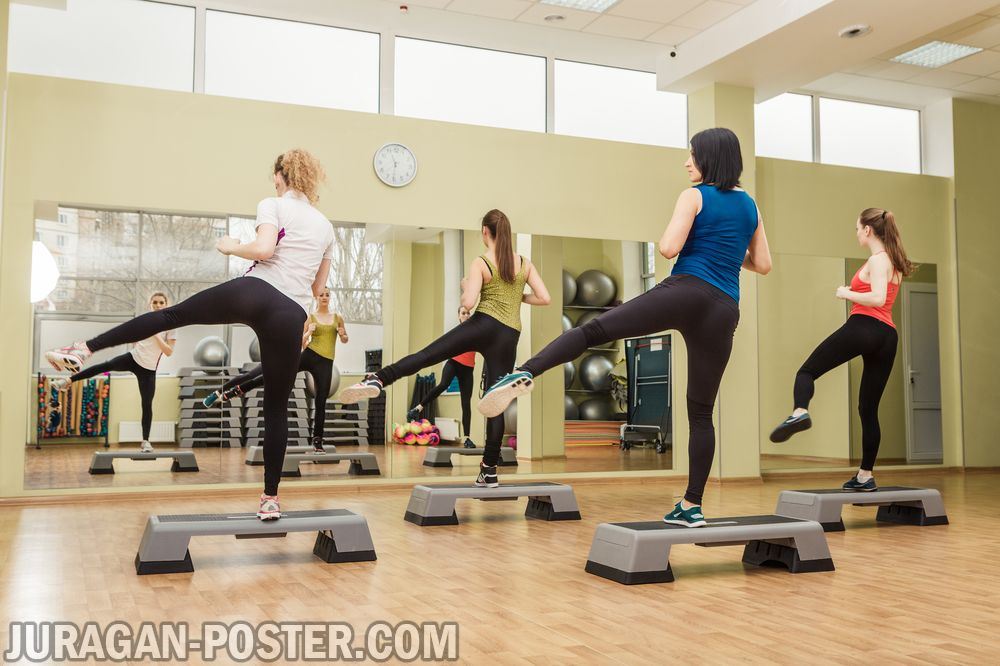 Aerobic Fitness And Sports People Jual Poster Di Juragan Poster