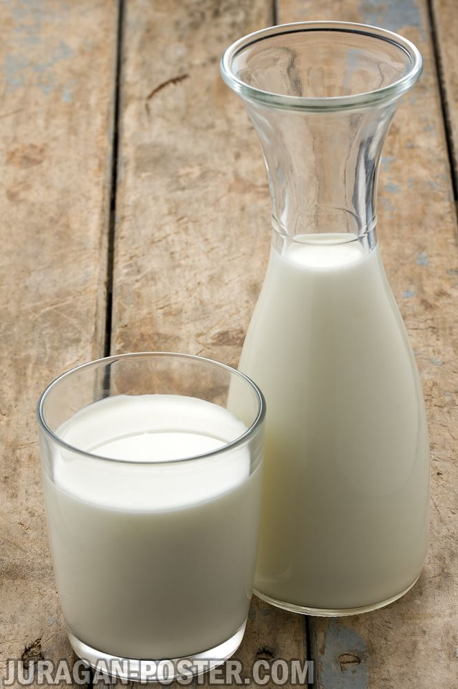 Milk Of Cow In Glass And Jug And Dairy Products Jual