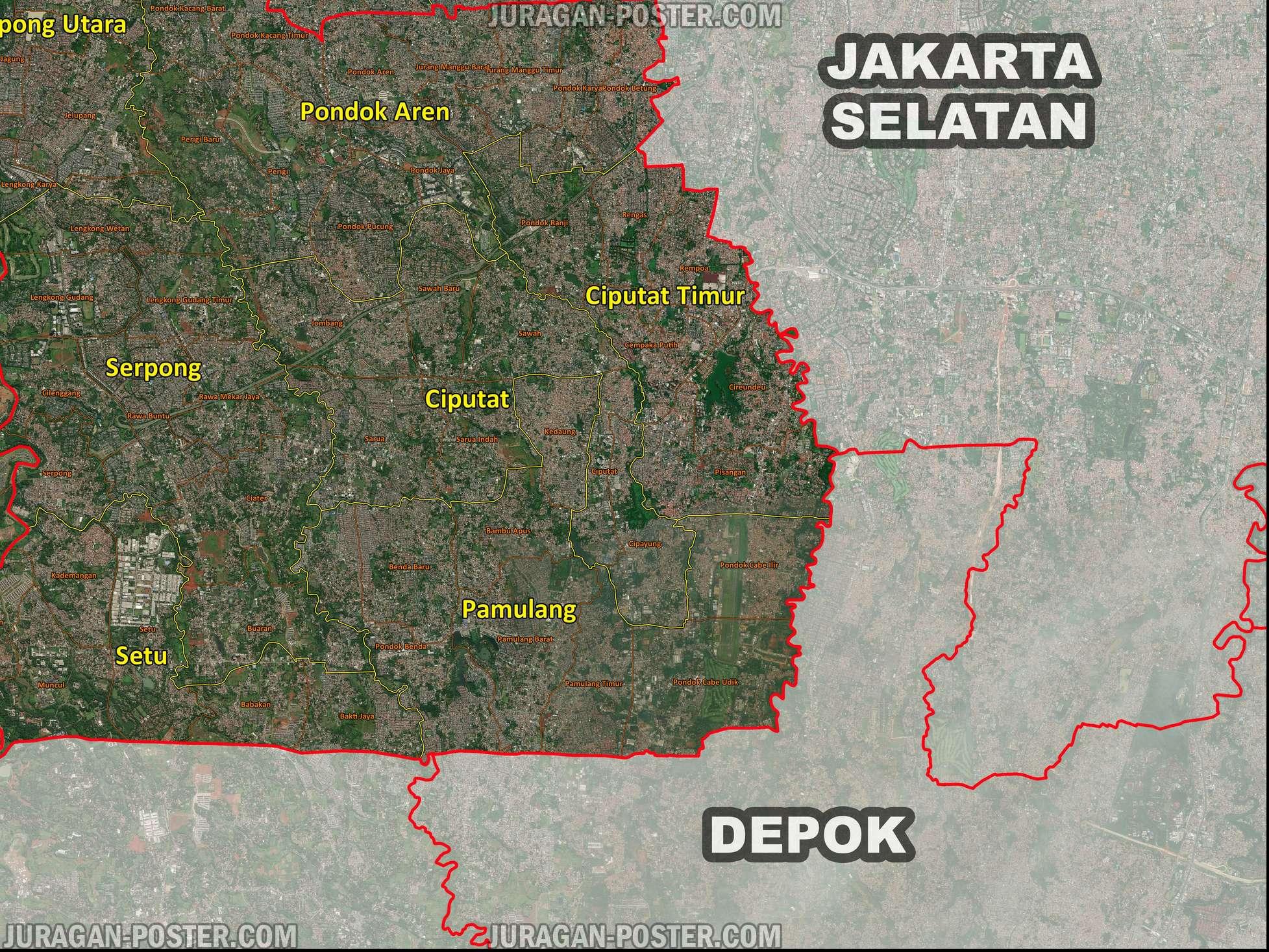 Peta Kabupaten Tangerang, Kota Tangerang dan Tangerang selatan ...