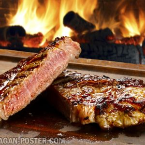 jual poster gambar makanan BBQ and Steaks 01