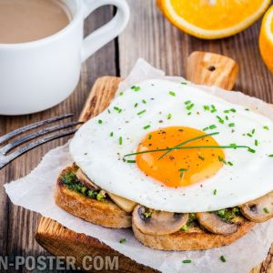 jual poster gambar makanan breakfast 02