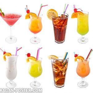 jual poster gambar minuman cocktails