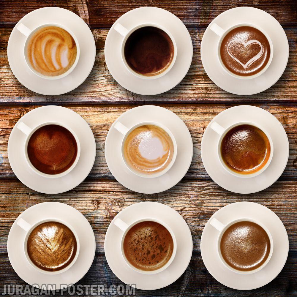 jual poster gambar minuman cangkir kopi