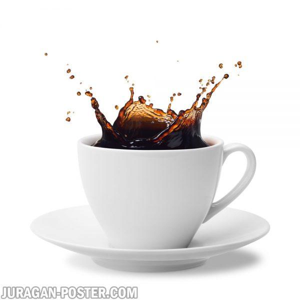 jual poster gambar Splashing coffee