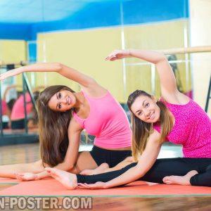 jual poster gambar wanita fitness dan pilates