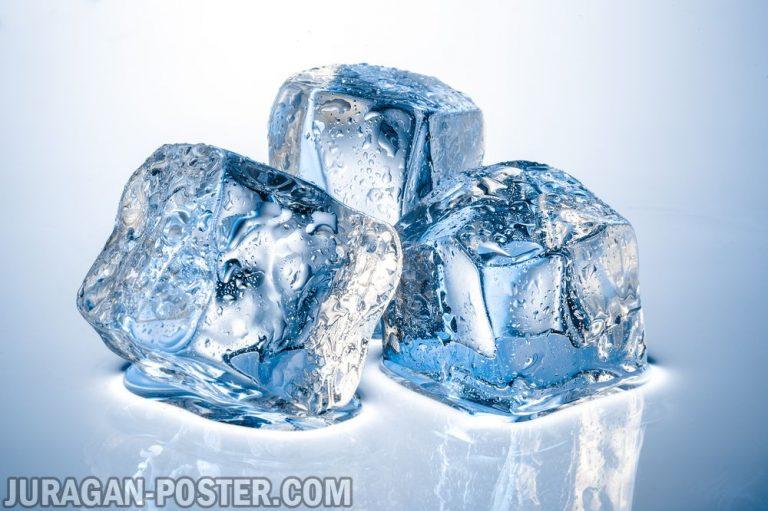 jual poster gambar es batu