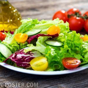 jual poster gambar makanan salad