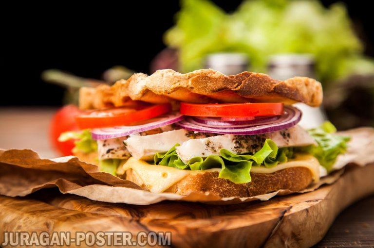 jual poster gambar makanan Sandwich 02