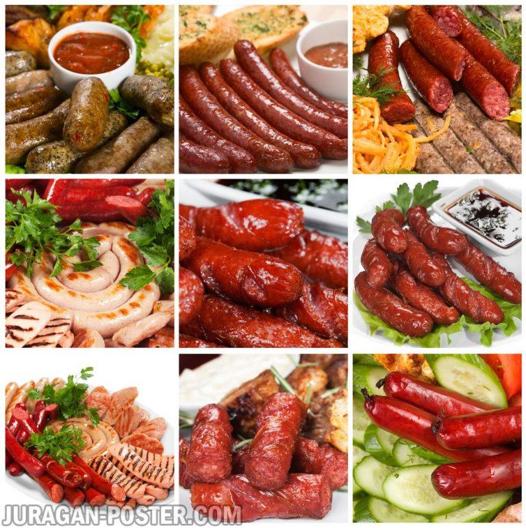 Jual poster gambar makanan sosis 01