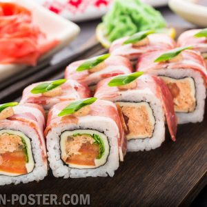 jual poster gambar makanan Sushi and other japanese food 01
