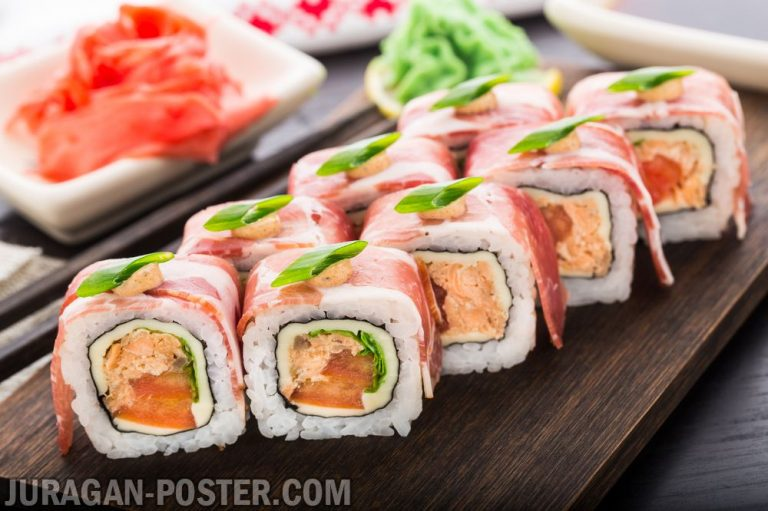 jual poster gambar makanan Sushi and other japanese food 01