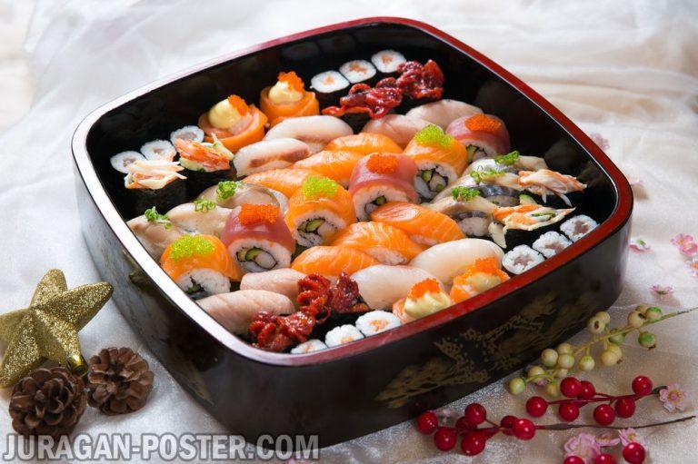 jual poster gambar makanan Sushi and other japanese food 02