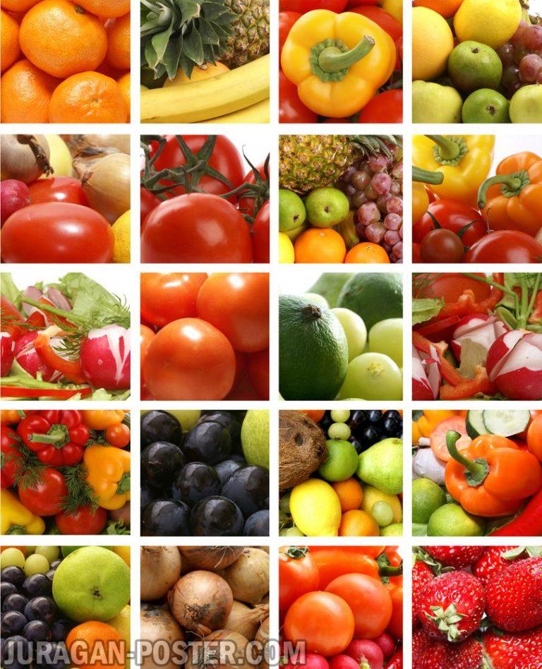 jual poster gambar sayur-sayuran